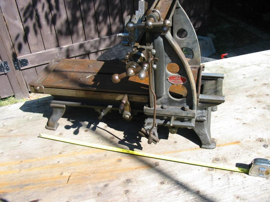 Small Antique Aj Wilkinson Bench Top Planer For Sale
