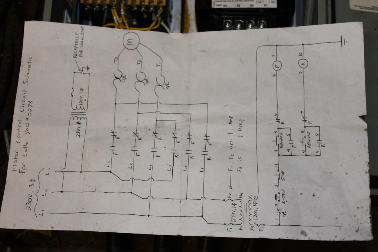 Wiring Lathe And Vfd