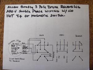How do I wire up my drum switch? (220V, single phase)