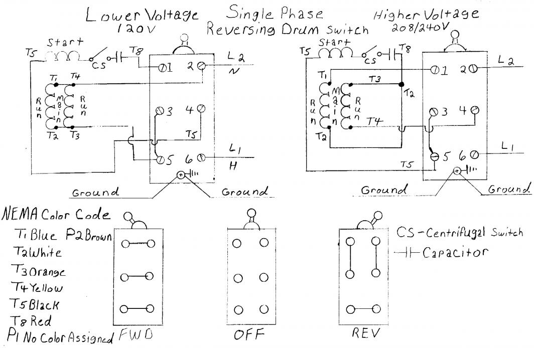 24511d1279491956 wiring new motor single phase reversing drum switch?zoom\\\\d2.625\\\\6resize\\\\d665%2C434 us motors wiring diagram single phase motor wiring diagrams Nema 6-20R Wiring-Diagram at n-0.co