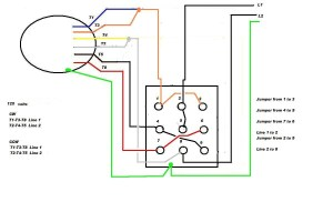 Leeson Electric Motor reversing on Drum switch