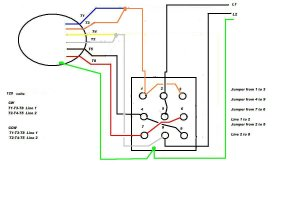 Wiring a 9 lead motor to Drum Switch