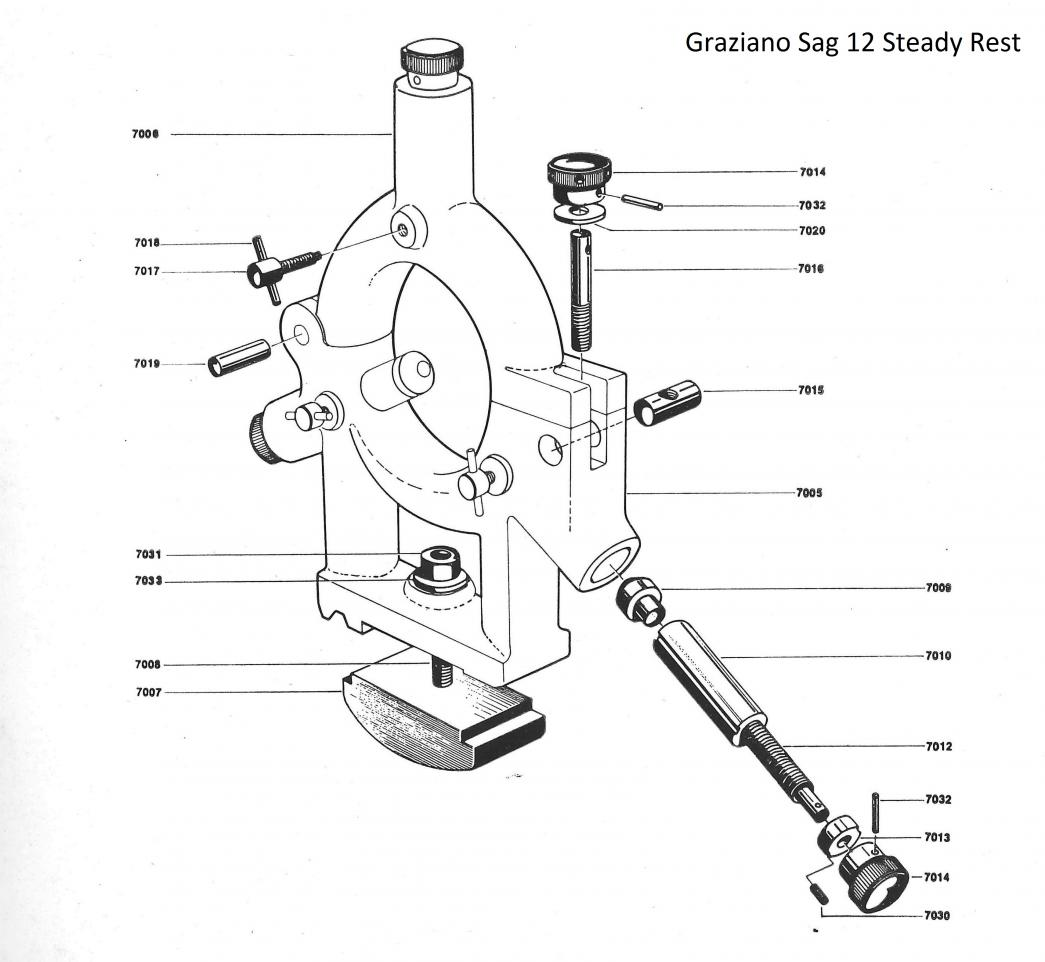 Grazianon Sag 12 Accessories 1 Steady Rest