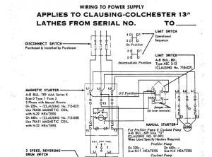 Clausing Coolent Pump Wiring