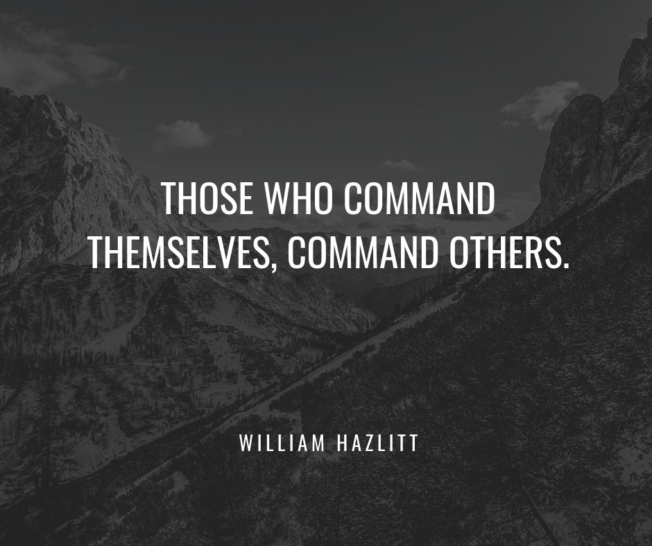 those who command themselves