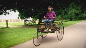 James May on a Benz Patent-Motorwagen