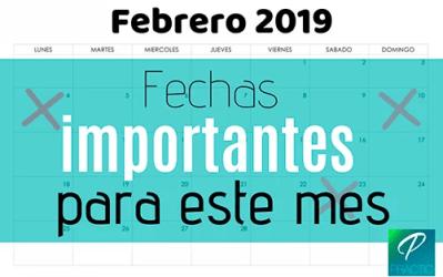 Estas son las fechas que debes anotar para el mes de febrero