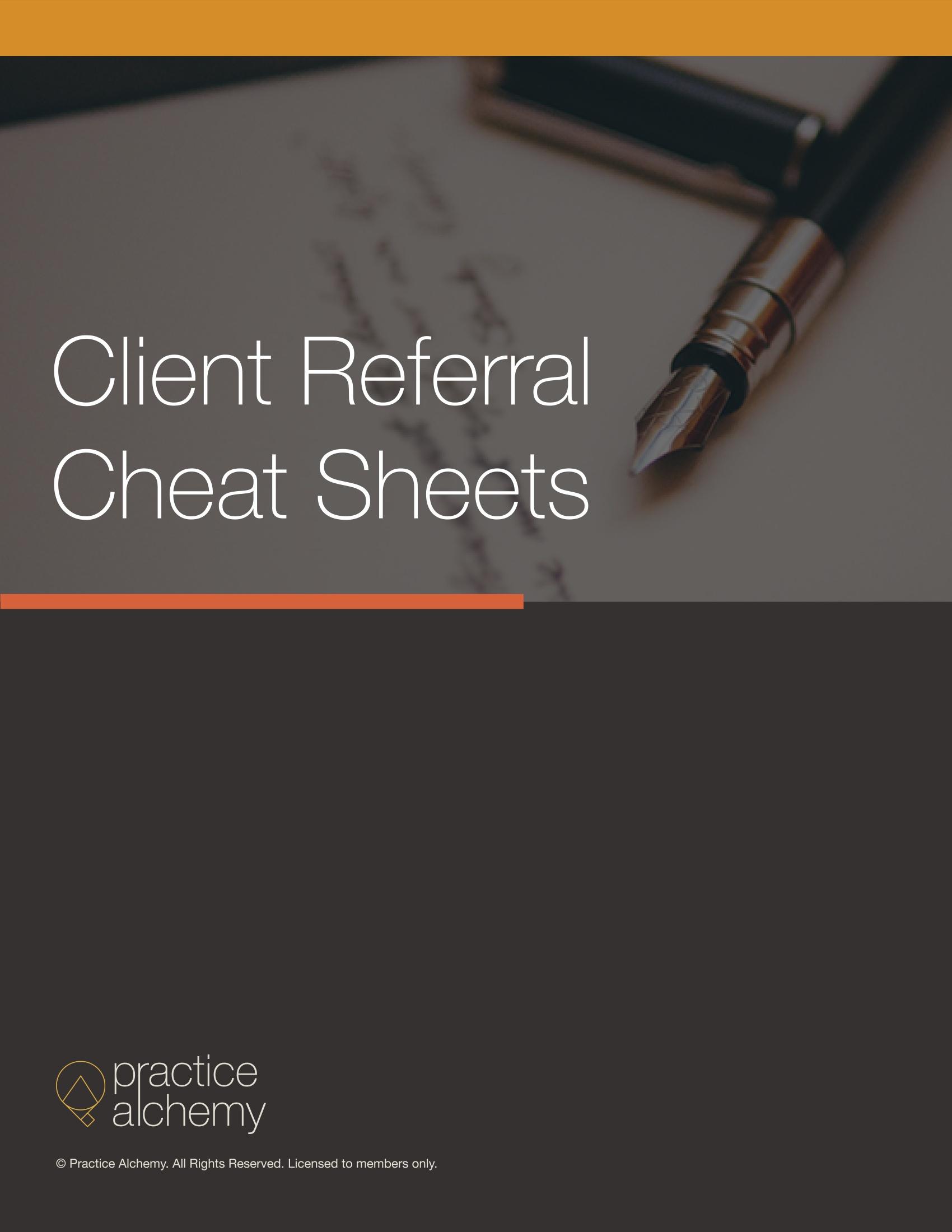 Attorney Marketing Worksheets