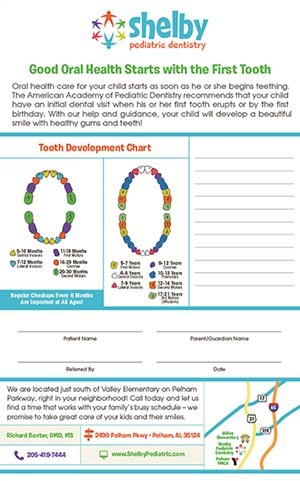 Tots to Teens Dental Development Chart