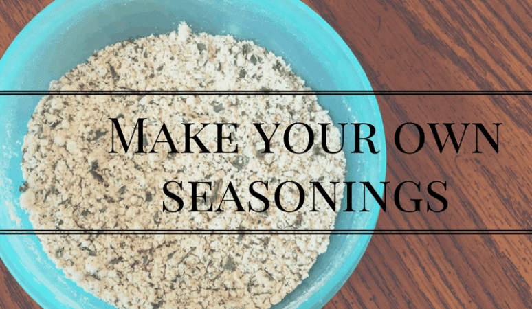 Make Your own seasonings