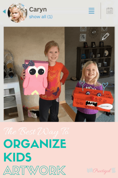 The Best Way to Organize Kids Artwork