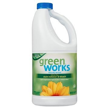 Green works non-chlorine bleach for laundry stain removal