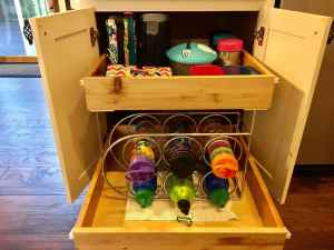 Wine rack for keeping water bottles organized and not falling over! A back to school routine should be simple so that it alleviates stress instead of adding more!Here are four routine ideas that will work for any family.~Practigal Blog