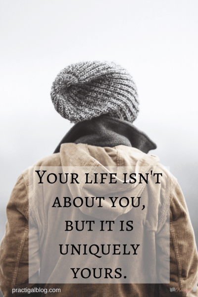 Your life isn't about you, but it is uniquely yours. Minimalism and the Christian life are compatible, because some of what minimalism stands for lines up beautifully with what God wants for each of our lives. ~Practigal Blog
