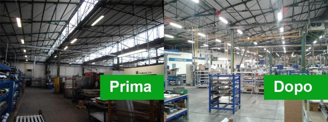 Riqualificazione impianto illuminazione con lampade LED