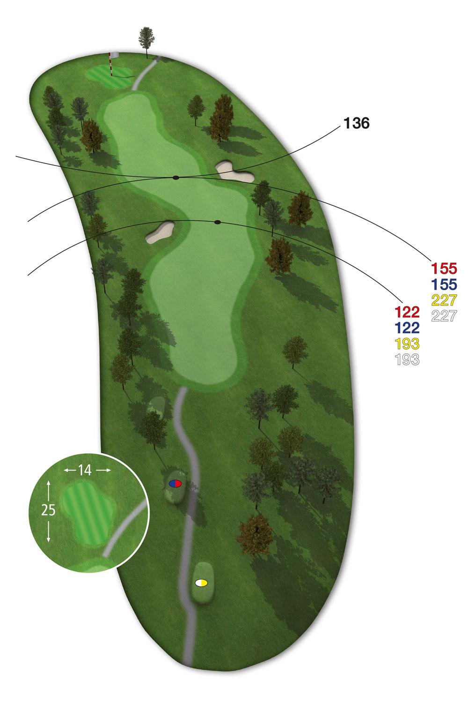 9 Loch Westkurs Bahn 6 im Golfclub Praforst