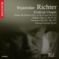 FRYDERYK CHOPIN : Etudes Opp 10, 25, Ballades Op 23, Nocturnes - S. Richter