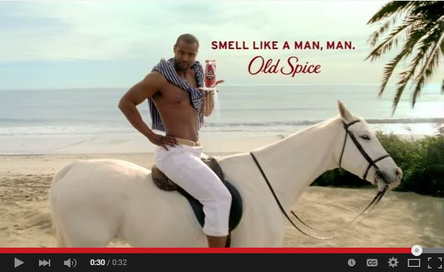 Old Spice commercial