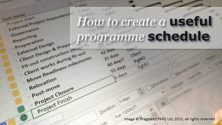 How to create a useful programme schedule