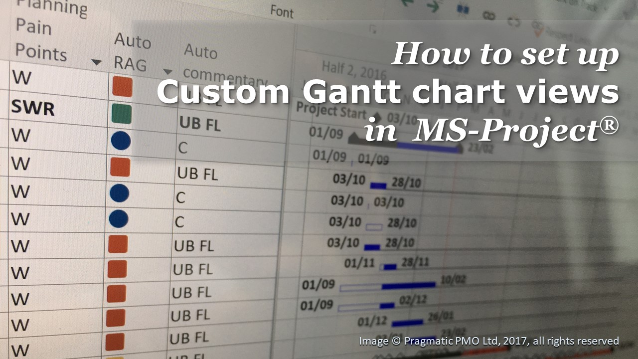 How to set up custom Gantt chart views in MS Project        Pragmatic PMO