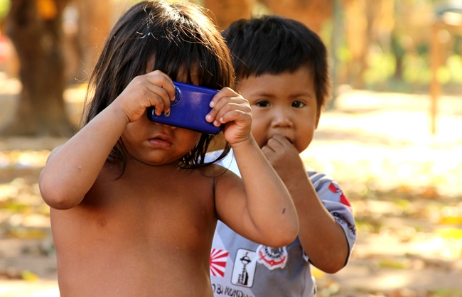 Criancas Tapirape terras indigenas