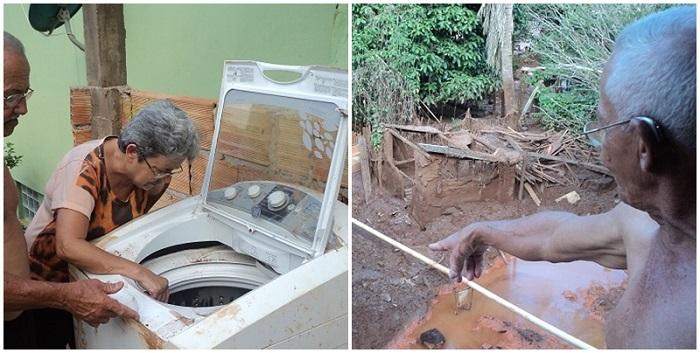 idosa Samarco Vale Mariana máquina lavar