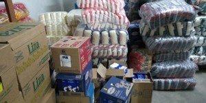 Mais de uma tonelada de alimentos doada à Secretaria de Assistência Social - Foto: Divulgação