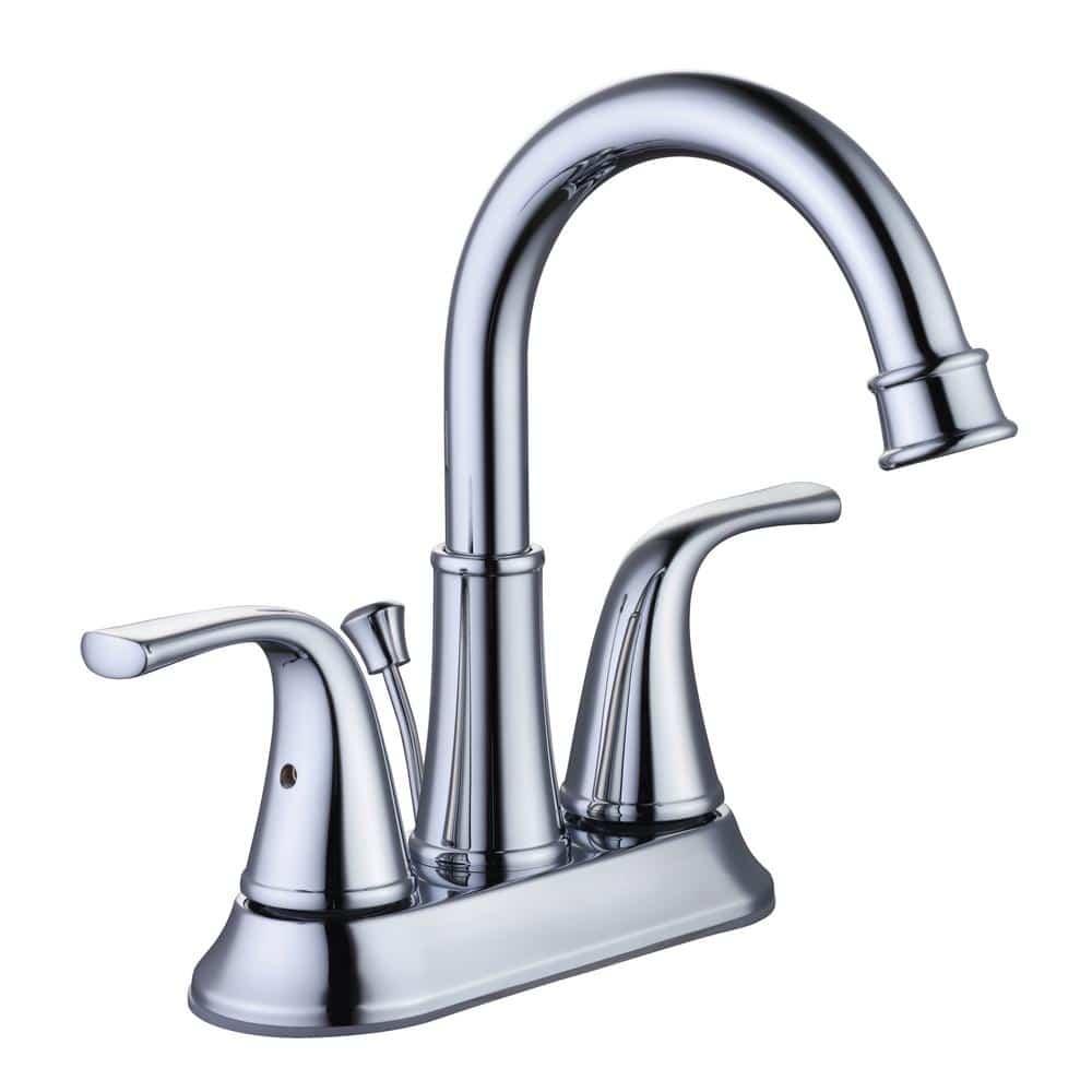 glacier bay bettine 1005 496 565 4 in centerset 2 handle high arc bathroom faucet in chrome