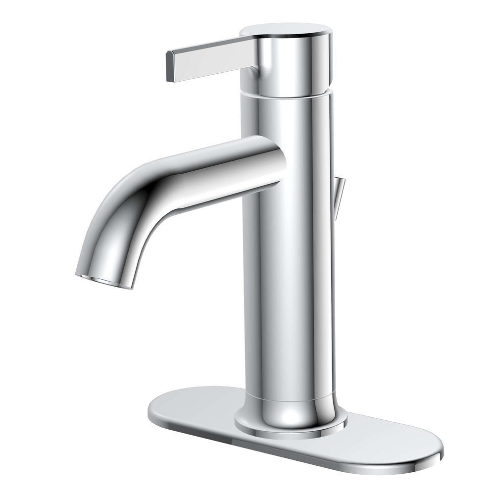 glacier bay ryden 1005 492 729 single hole single handle bathroom faucet in chrome