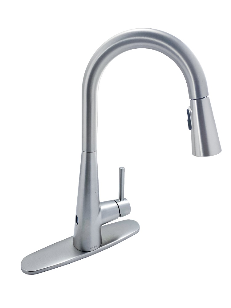 moen sleek touchless 7864ewsrs single handle pull down sprayer kitchen faucet with motionsense wave in spot resist stainless