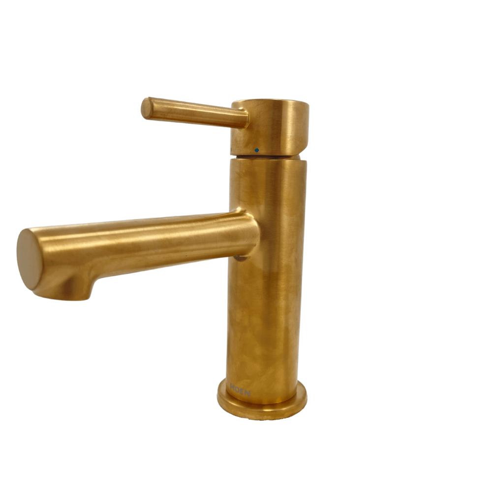 moen align 6190bg 1 hole 1 handle bathroom faucet in brushed gold