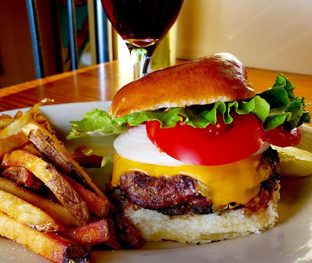 best burger in evanston is at prairie moon restaurant near NU