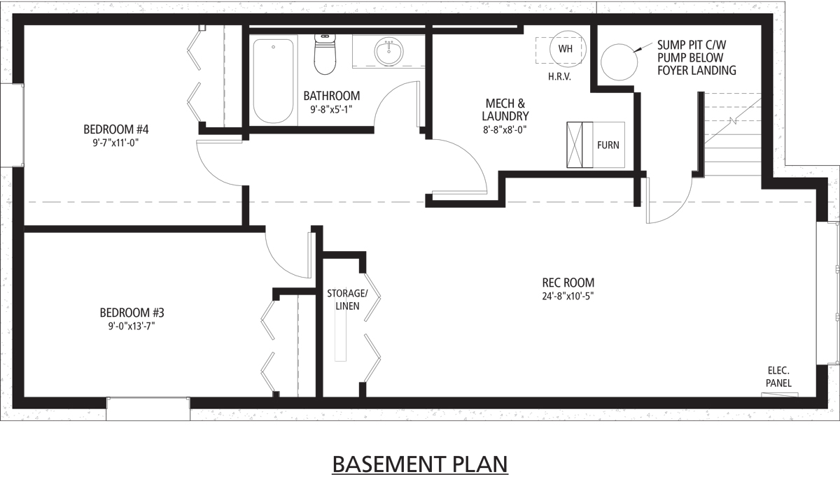 Parker B basement floorplan