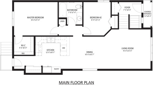 Parker B main floor plan