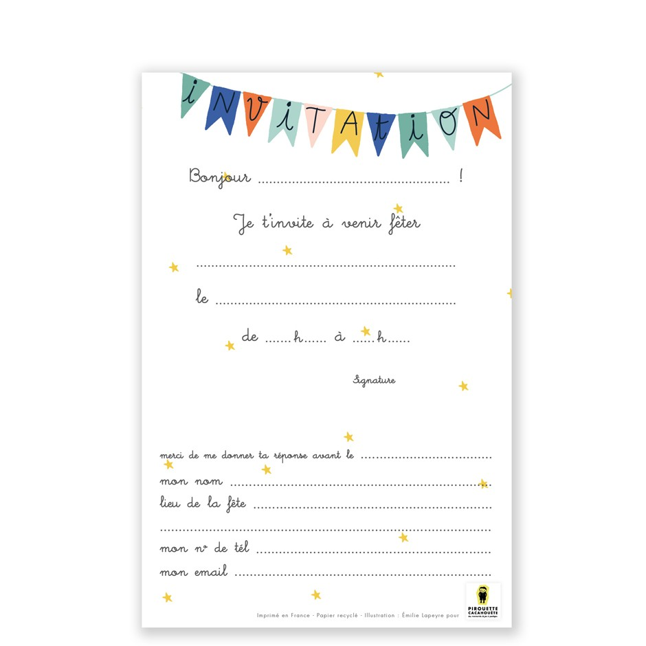 cartes d invitations montgolfiere