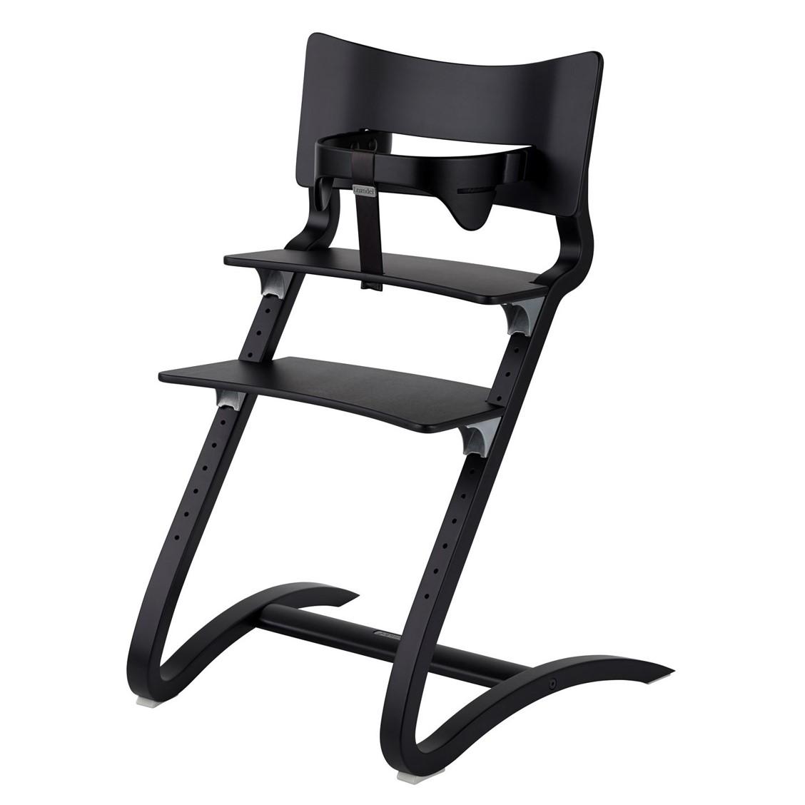 chaise haute evolutive avec arceau de securite noire