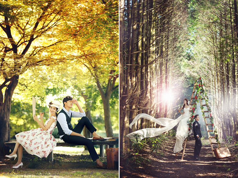 28 Enchanted Forest Engagement Photos For Fairy Tale