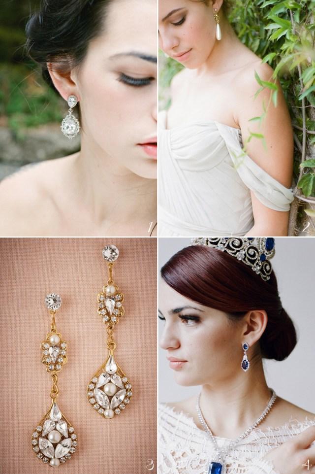 20 flattering bridal earrings for every face shape! - praise