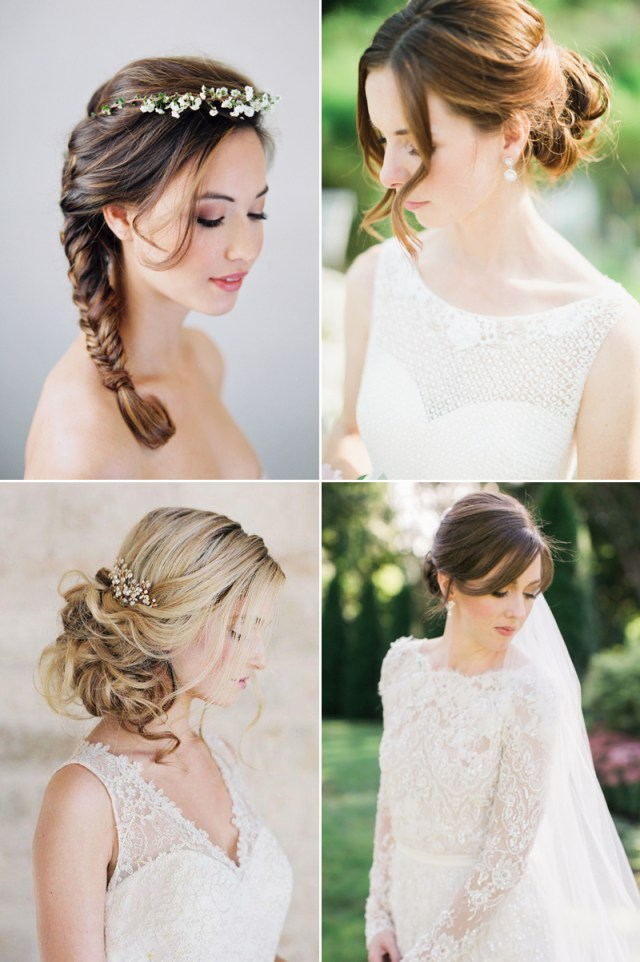how to style your bangs? 16 beautiful bridal hairdos with