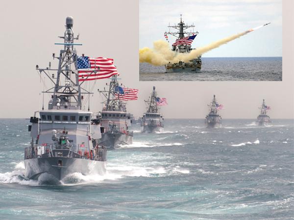 us war ships in chaina sea