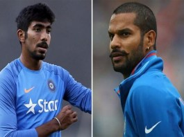 bumrah and shikhar dhawan