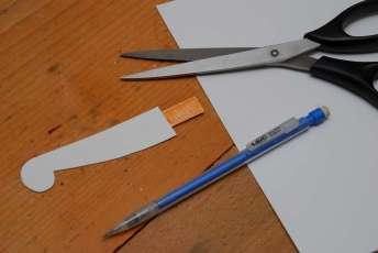 Takto sa rodí papierová šablóna pre drobné úpravy.