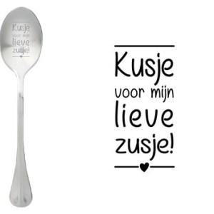 Message spoon kusje zusje
