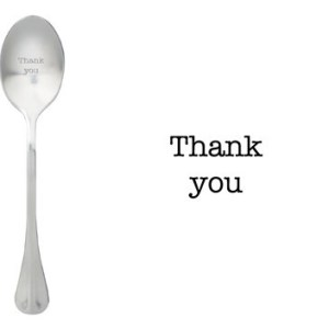 Message spoon thank you
