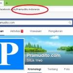 Cara Mengganti Alamat URL Halaman Fan Page Facebook