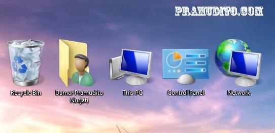 Ikon pada desktop Windows