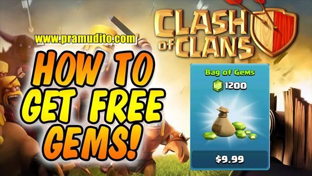 Gems Gratis di Clash of Clans