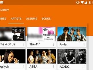 Tampilan Google Play Music