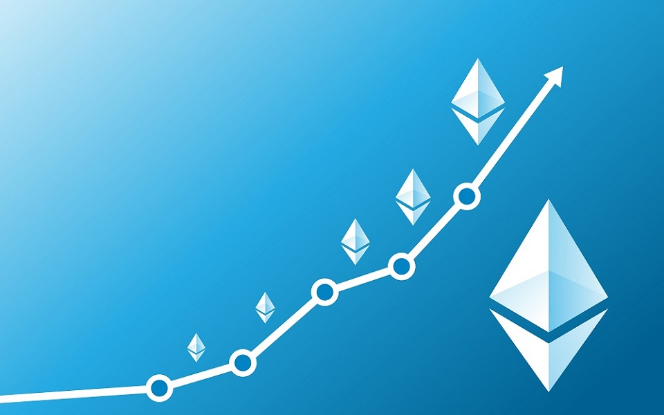 Ethereum rising up, image by altcointoday.com