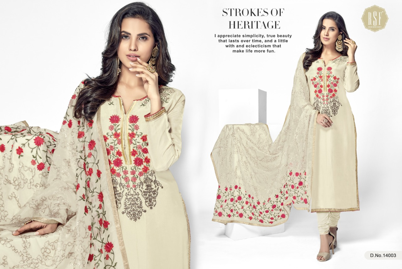 cbcc581c50 Bazwa Catalog by ridhi sidhi fashion upada silk Embroidered suits ...